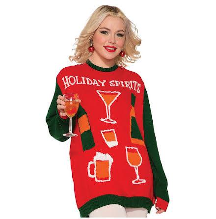 Jultröja, holiday spirits XL
