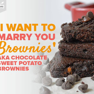 'i Want to Marry You Brownies' Aka Chocolate Sweet Potato Brownies.