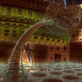 Gable Loc by Rick Eskridge - Illustration Sci Fi & Fantasy ( fantasy, jwildfire, mb3d, fractal, twisted brush )