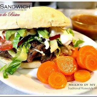 Steak Sandwich / Torta de Bistec