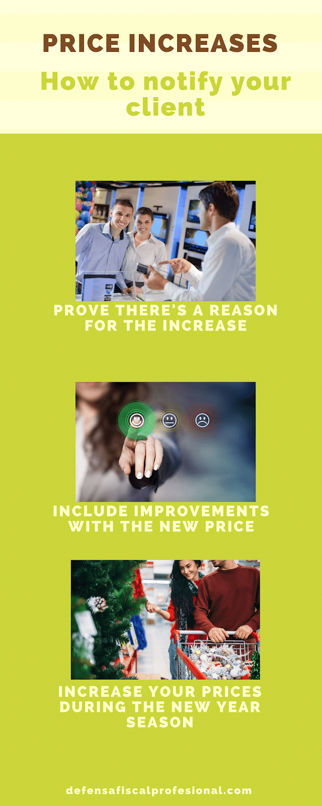Infographic showing how to implement price increases