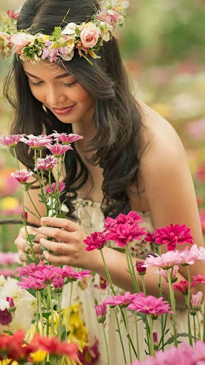 玩免費遊戲APP|下載Women and flowers Wallpapers app不用錢|硬是要APP