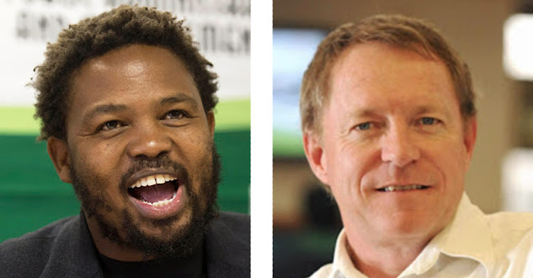 Let's rumble: The BLF's Andile Mngxitama will debate economist Dawie Roodt.