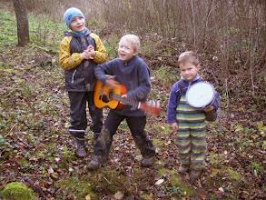 Photo: hudební trio - Davídek (teď už prvňák), Ondra, Kamilek