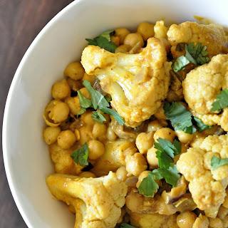 Chickpea And Cauliflower Satay Curry.