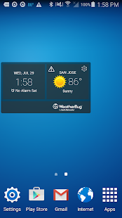 WeatherBug Time & Temp widget- screenshot thumbnail