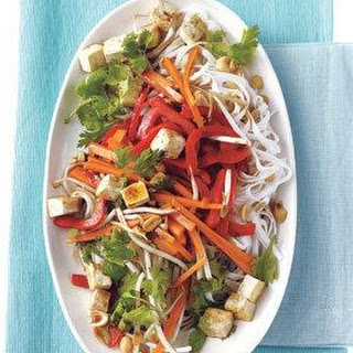 Stir-Fried Rice Noodles With Tofu and Vegetables