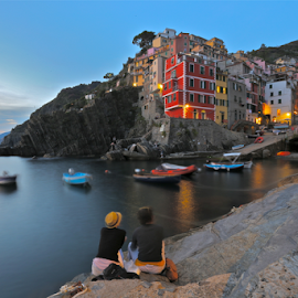 by Felice Bellini - City,  Street & Park  Night ( riomaggiore,  )