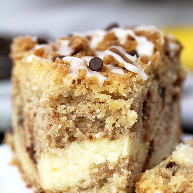 Cheesecake Banana Bread Crumb Cake Recipe