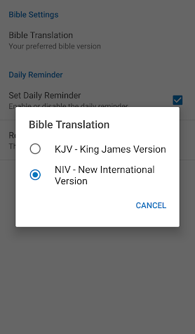 Daily Bible Verse Screenshot