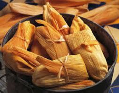 Tamale in Corn Husk ~Tamal en Hoja