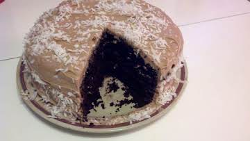 TJ's Coconut Chocolate Cake