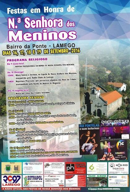 Programa – Festas em Honra de N.ª Senhora dos Meninos – Bairro da Ponte – Lamego – 2016