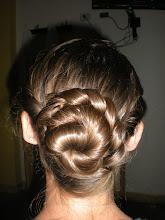 Photo: Menda´s hair for the wedding we went to. At the end of training she was voted by small panel of volunteers to have the