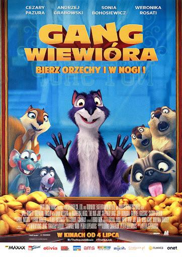 Przód ulotki filmu 'Gang Wiewióra'