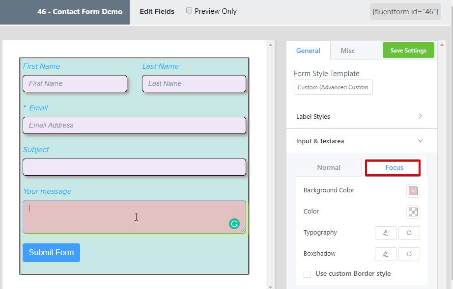 form builder plugin