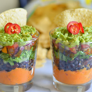7 Layer Sweet Potato Bean Dip