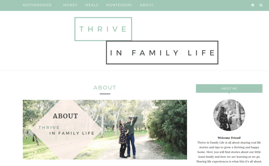 Hannah from thrive in family life for blog