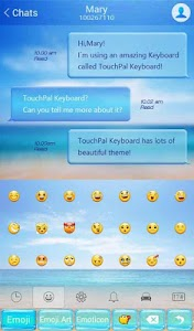 TouchPal Cool Summer Theme screenshot 4