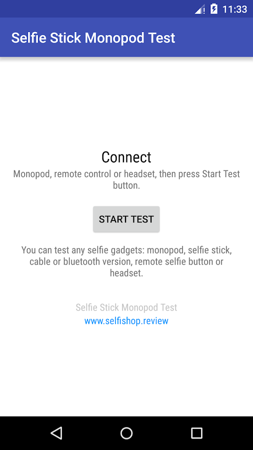 Selfie stick monopod test- screenshot