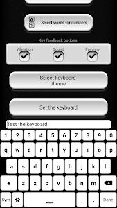 Black and White Keyboard screenshot 0