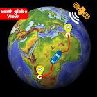 Satellite View Earth Globe Map