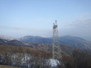 上部鉄塔からの眺め(烏帽子岳・霊仙山・三国山など)
