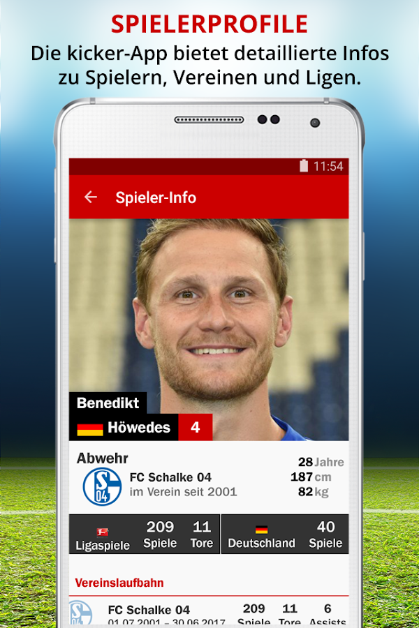 kicker Fußball Transfermarkt- screenshot