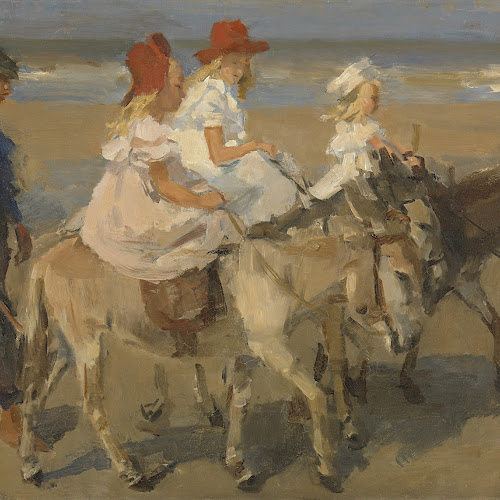 Art Nouveau In Het Rijksmuseum.Donkey Rides On The Beach Isaac Israels C 1890 C 1901