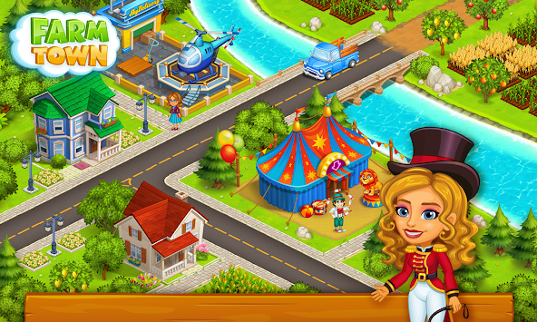 Farm Town: Happy village near small city and town