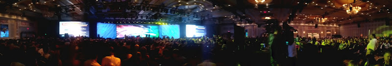 Photo: Panorama of the scene before Microsoft's keynote.