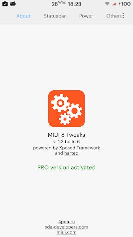 MIUI Tweaks PRO Activator Screenshot