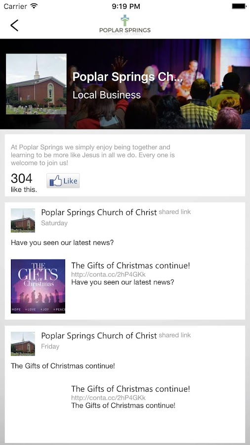 Poplar Springs CC- screenshot