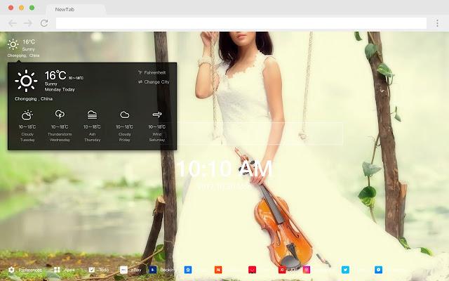Wedding dress New Tab HD Wallpapers Themes