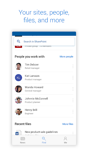 Microsoft SharePoint screenshots 2