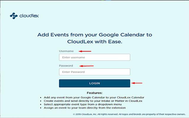 CloudLex Calendar