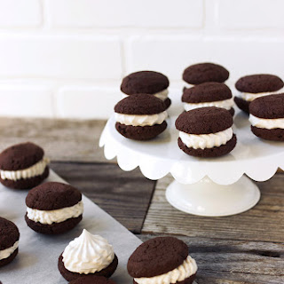Grain-free Mini Chocolate Whoopie Pies with Vanilla Bean Marshmallow Creme