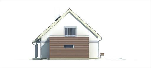 Ada wersja B z pojedynczym garażem - Elewacja prawa
