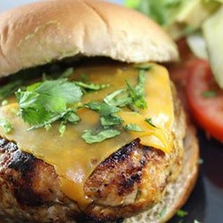 Chicken Cheddar and Guacamole Burgers.