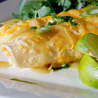 4. Green Chile Chicken Enchiladas