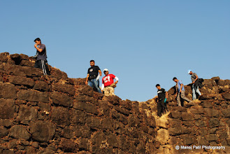 Photo: Unnecessary Hikers walking on path where some time in past our Brave Maratha Warrior patrol Rajgad