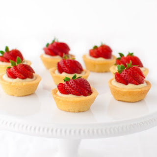 Strawberry Tartlets with Vanilla Pastry Cream.