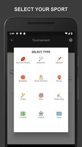 Winner - Tournament Maker App, League Manager 9.1.0 Screenshots 1
