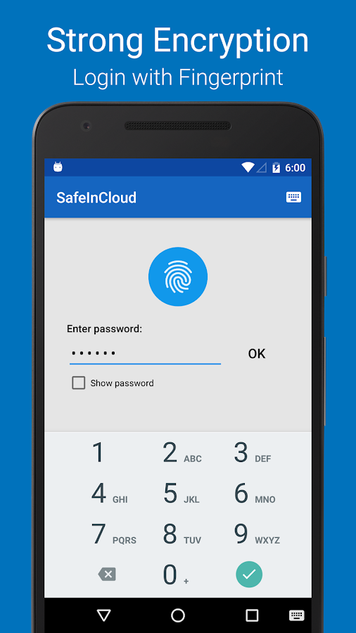 Password Manager SafeInCloud- screenshot