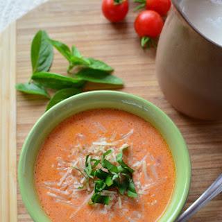 Garden Fresh, Creamy Tomato Basil Soup