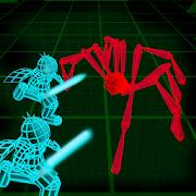 Stickman Neon Warriors: Spiders Battle