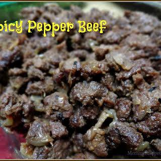 Spicy Pepper Beef.