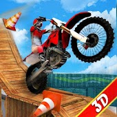 Impossible Stunt Bike Simulator 3D - Trail Tricks