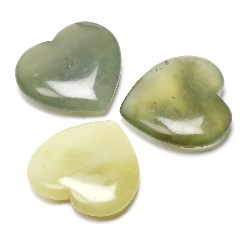 Jade ny, stort kristallhjärta