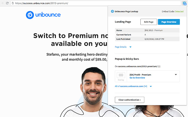 Unbounce Page Lookup
